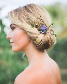 Obsessed with this chic and romantic updo from @btvbeauty in today's lavender shoot from @victoria.selman on #glamourandgrace