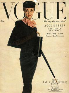 Jean Patchett / #Vogue Cover March 1950