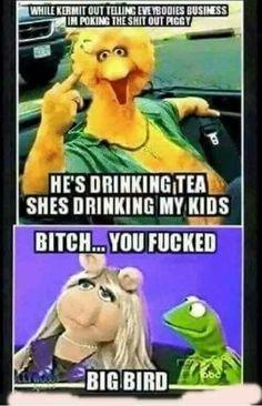 Funny Kermit Memes, Funny Animal Memes, Really Funny Memes, Funny Cartoons, Funny Facts, Funny Signs, Funny Jokes, Funny Laugh, Haha Funny
