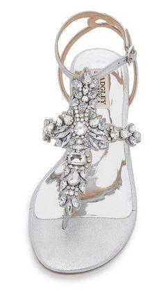b5e2741ab04bd amazon guarantee Badgley Mischka Cara II Flat Sandals Lowest price. Bling  Wedding Shoes