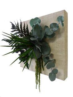 Cadre végétal, tableau floral stabilisé éco