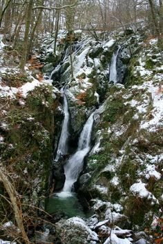 Stockghyll (Stock-Gill) Force, Ambleside, in Winter