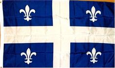 """Quebec Flag 3 X 5 feet high quality by WILDFLAGS. $1.00. Double sewn edges for durability. Includes 2 Brass grommets for hanging!. Lightweight and great for hanging inside and out doors. Brand new 3' x 5' (36"""" x 60"""") Polyester Quebec flag. The flag of Quebec, called the Fleurdelisé, was adopted by the provincial government of Quebec, Canada, during the government of Maurice Duplessis. It was first shown on January 21, 1948, at the Parliament Building in Quebec City...."""