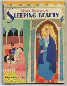 Walt Disney's SLEEPING BEAUTY Big Golden Book with Cover by Mary Blair and Production Art, 1958