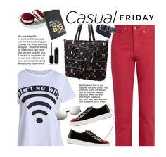 """""""Casual"""" by beebeely-look ❤ liked on Polyvore featuring Acne Studios, Charlotte Olympia, Marc Jacobs, casual, casualfriday, streetwear, statementtshirt and twinkledeals"""