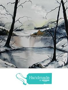 ORIGINAL painting watercolor painting WATERCOLOR Painting,watercolor landscape, Pinetreeart, WATERCOLOR, landscape original, painting from Maine ARTist https://www.amazon.com/dp/B01GSE9W46/ref=hnd_sw_r_pi_dp_3pfwxbFH3GNE5 #handmadeatamazon