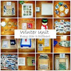 Montessori-inspired winter learning activities and free printables for kids.