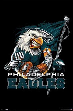 Eagles Football | NFL Philadelphia Eagles Football Team Logo Poster
