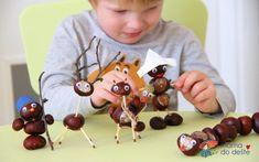 Tipy na výrobky z kaštanů s malými dětmi | Mamadodeste.cz Activities For Kids, Cherry, Fruit, Desserts, Food, Tailgate Desserts, Deserts, Children Activities, Essen