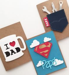 Fathers day cards, diy for fathers day, mothers day cards, diy cards for da Happy Fathers Day Cards, Fathers Day Crafts, Mothers Day Cards, Fathers Day Cards Handmade, Happy Dad Day, Fathers Day Presents, Father Birthday, Birthday Diy, Homemade Birthday