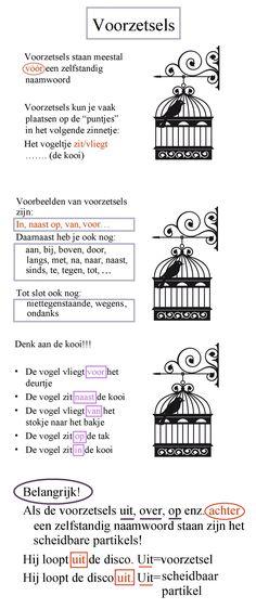 Voorzetsels (het vogeltje zit in de kooi)