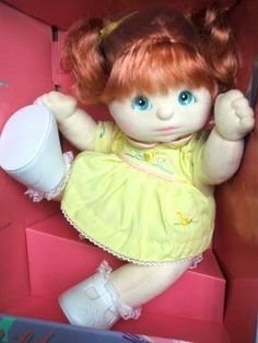 My Child doll. Why these were stopped being made, I will never understand. I LOVED them