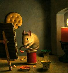 The Artist In HIs Studio by Will Wilson