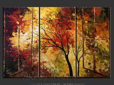 """Window To The Autumn Paradise"" - Original Landscape Art by Lena Karpinsky, http://www.artbylena.com/original-painting/20756/window-to-the-autumn-paradise.html"