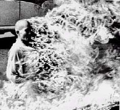 """On this day in 1963, Thich Quang Duc, a Buddhist monk, set himself on fire at a busy intersection in Saigon in a plea for President Ngo Dinh Diem to show """"charity and compassion"""" to all religions."""