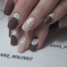 Romantic Lace Nail Art Designs For You - Styles Art Lace Nail Art, Lace Nails, Hot Nails, Hair And Nails, Nailed It, Different Nail Designs, Manicure E Pedicure, Stamping Nail Art, Fabulous Nails