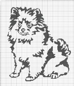 Gallery.ru / Фото #80 - собаки, схемы вышивок из интернета - poodel