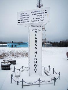 The Alaska Canada Highway   Guide   Road Trip Planner   AlCan   Photos - End of the Alaska - Canada highway