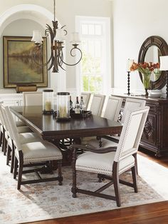 Tropical British Colonial Style (Add different chairs to mahogany ...