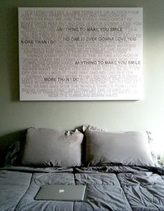 Large Canvas Art Personalized Faded greys lyrics distressed words on canvas gallery wrapped - band of horses Wedding Song Lyrics, Wedding Songs, Wedding Gifts, Our Wedding, Perfect Wedding, Handmade Wedding, Wedding Playlist, Music Lyrics, Wedding Band