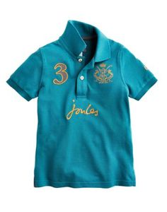 Boys Classic Joules Polo Shirt in dark topaz