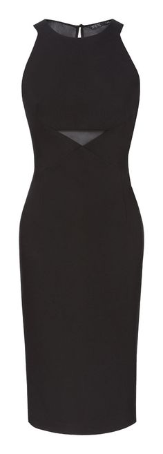 Image 5 of COMBINED DRESS WITH SHEER DETAILS from Zara