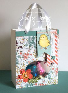 Stampin' Up! Wildflower Fields Gift Bag - Judy May, Just Judy Designs