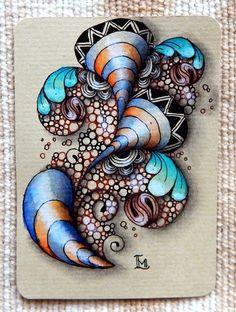 For weekly Diva's challenge: My other tiles: One ATC: For Adele Bruno's weekly challenge: . Dibujos Zentangle Art, Zentangle Drawings, Doodles Zentangles, Doodle Drawings, Mandala Doodle, Tangle Doodle, Zen Doodle, Doodle Art, Doodle Designs