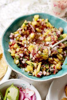 Recipe: Rhubarb-Pineapple Salsa — Recipes from The Kitchn #recipes #food #kitchen