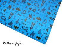 Geschenkpapier Hannover blau