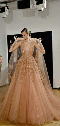 Elie Saab. If I ever get rich and have a place to go, I want a red Valentino and an Elie Saab. That is all.