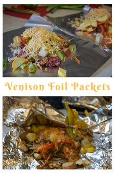 Venison Foil Packets a fast-cooking favorite with ground venison potatoes squ Venison Burgers, Venison Steak, Venison Meals, Roast Brisket, Beef Tenderloin, Pork Roast, Healthy Meat Recipes, Steak Recipes, Cooking Recipes