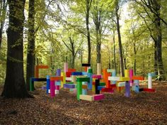 """Primary Structure"" playground sculpture by Jacob Dahlgren at Wanås in Sweden"