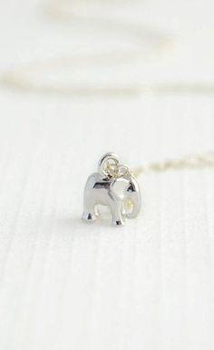 Tiny Silver Elephant Bracelet - I just love elephants! My favourite animal - incredibly beautiful and majestic
