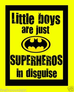 """""""Little Boys Superhero"""" Quote Boy Room Wall Art Decore. This would be perfect for the boy's room You Are My Superhero, Superhero Room, Superhero Party, Batman Room, Mellow Yellow, My Guy, Little Man, Boy Room, Decoration"""