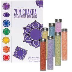 Indigo Wild, Zum Chakra, Shea Butter Bath Salts, 7 - 0.8 oz Tubes - iHerb.com
