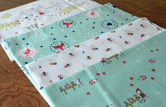 Enchant fabric collection by Cinderberry Stitches for Riley Blake. What a cute tea party quilt this would make!