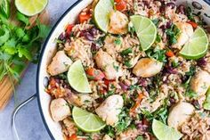Everyone Loves this Skillet Cilantro-Lime Chicken + Rice! - Clean Food Crush