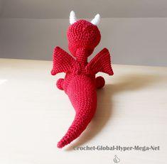 Yaki, le dragon rouge – Pau Paul, crochet & embroidery