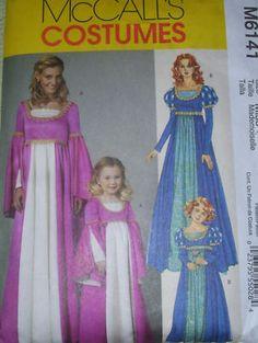 McCall's M6141 Ladies Girls Renaissance Costume Pattern   eBay 6