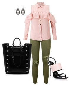 """""""Comfortably Pink!!!"""" by la-harrell-styling-co on Polyvore featuring Current/Elliott, Miss Selfridge, Giuseppe Zanotti, Mulberry and Free Press"""
