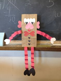 Mr. Heart Man.  Kids make to use as their valentine's card bag.  Can put the bow tie on the too to make a bow for Mrs. Heart!