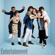 Chosen Jacobs, Sophia Lillis, Finn Wolfhard, Wyatt Oleff, Jeremy Ray Taylor, and Jack Dylan Grazer (IT)
