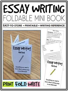 essay writing mini book a perfect addition to an ela interactive  essay writing mini book a perfect addition to an ela interactive notebook