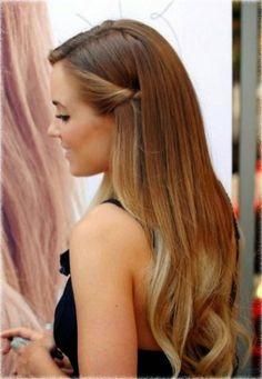 Half up half down hairstyles (10)