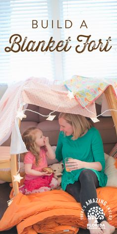 Build a blanket fort - a fun and cozy sanctuary for time with your little ones, whether it's watching movies, reading books or just hanging out. Allow your kids' imagination to run wild as they create personalize their fort with li Rainy Day Activities, Indoor Activities For Kids, Family Activities, Toddler Activities, Projects For Kids, Diy For Kids, Rainy Day Fun, Indoor Play, Toddler Fun
