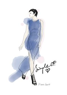 Simple dedication Małgorzata Iracka Fashion Illustration