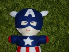 Captain America Inspired Softie  Action Hero by IndieChicDesigns, $19.95 ...so many other characters too. Cute.