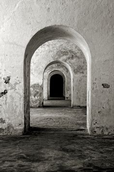 "Castillo San Felipe del Morro, San Juan, Puerto Rico. Reminds me of the opening sequence of Roman Polanski's ""Ninth Gate"""