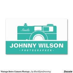 Vintage Retro Camera Photographer Business Card